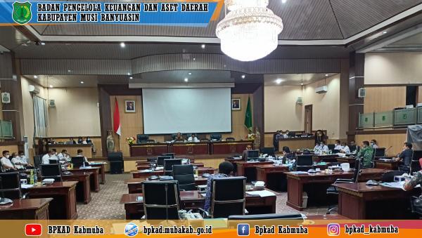 Rapat Pembahasan Raperda tentang Pertanggungjawaban Pelaksanaan APBD Kabupaten Musi Banyuasin Tahun Anggaran 2020